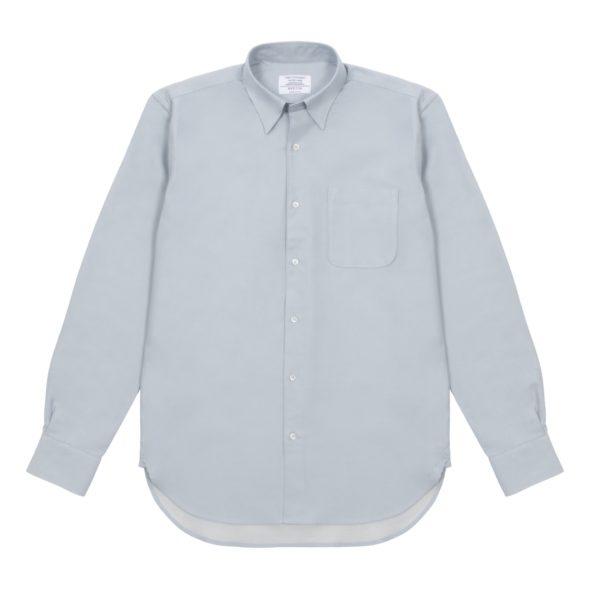 Light Blue Brushed Cotton Twill Hoxton Shirt