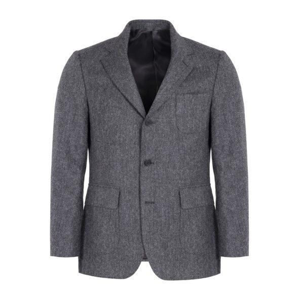 Grey Donegal Wool Hoxton Blazer