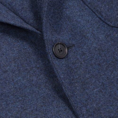 Prussian Blue Washed Wool Hoxton Blazer